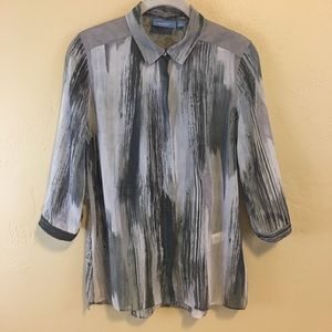 2/15 Simply Vera Women's Top Blouse Size S